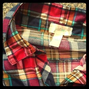 Multicolored Just Be Flannel Shirt